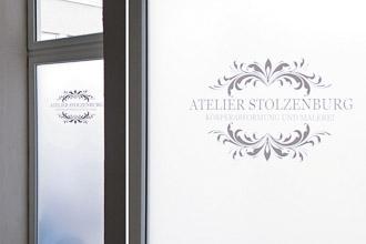 Sichtschutzfolie mit Logo